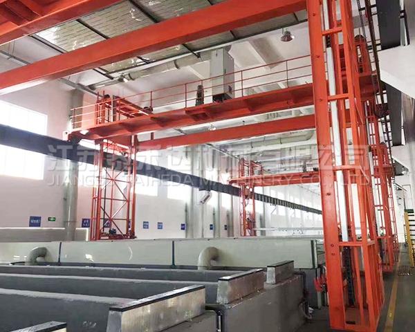 半自动化铝型材氧化生产线
